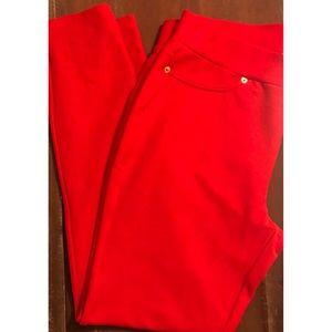 Michael Kors Women's Solid Red Jeggings